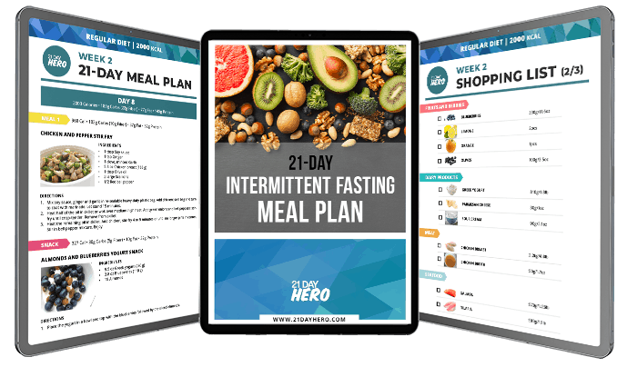 intermittent fasting meal plan for vegan, keto, regular, paleo, vegetarian diets