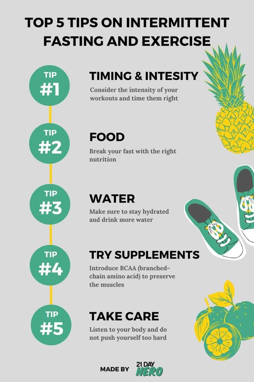 top tips on intermittent fasting and exercise