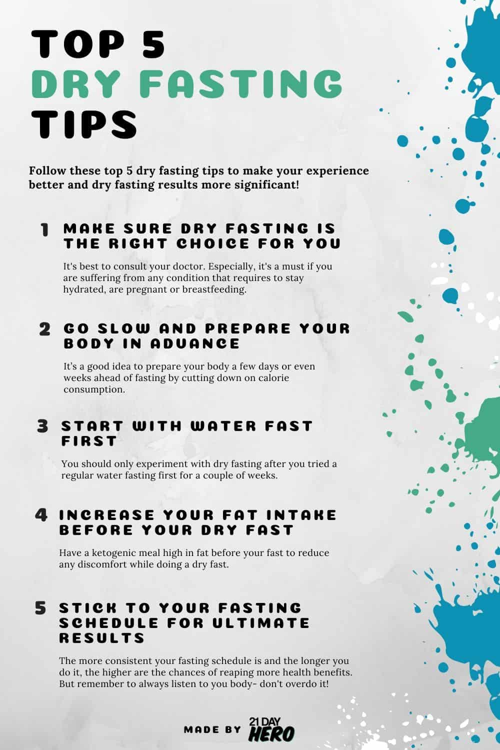 best dry fasting tips