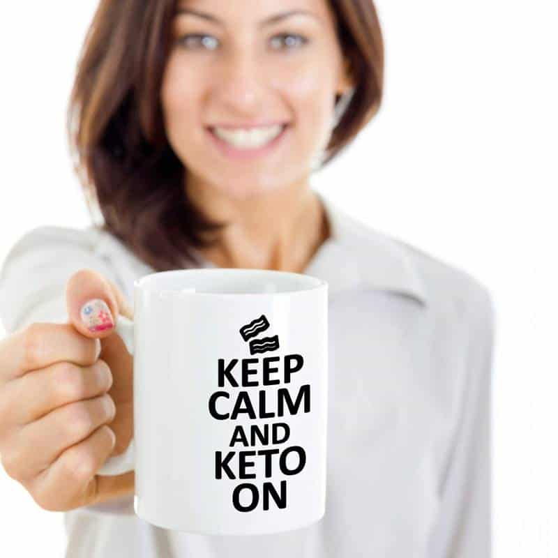 Intermittent fasting and keto holiday gifts mug
