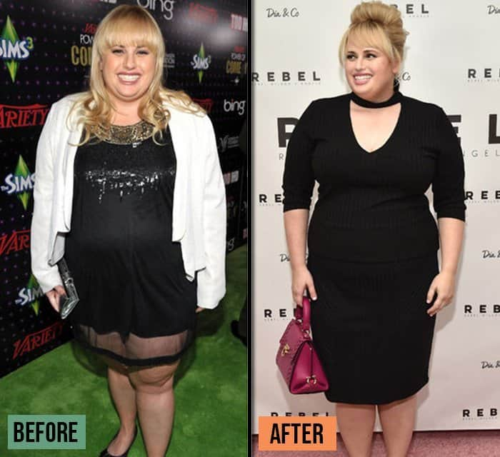 Rebel Wilson before and after weight loss success stories