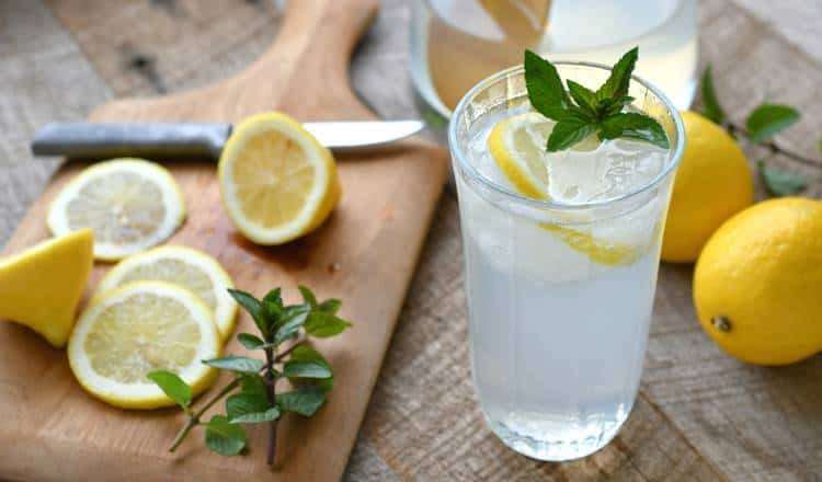 can you drink lemon water while fasting